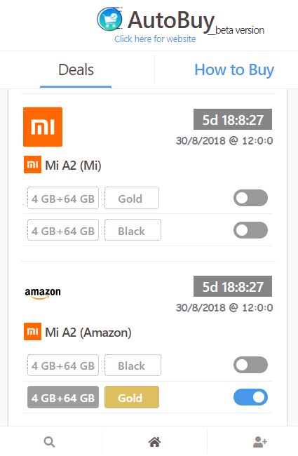how to buy mi a2 on Amazon