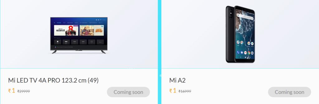 1rs Mi a2 & Mi TV
